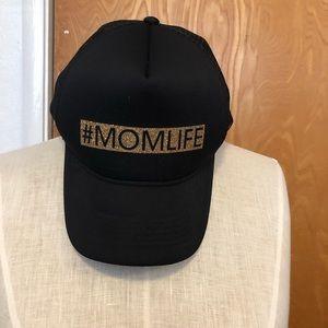 #Momlife baseball cap, trucker style snap back